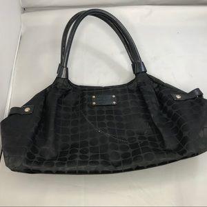 Kate Spade Black Logo Nylon Purse Hobo Bag